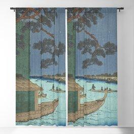 Utagawa Hiroshige - Pine Of Success And Asakusa River - Vintage Japanese Woodblock Print Art Blackout Curtain