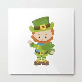 Green man with green hat Metal Print