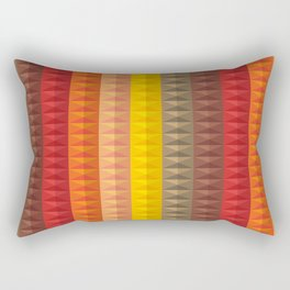 Bold Geometric Stripes Rectangular Pillow