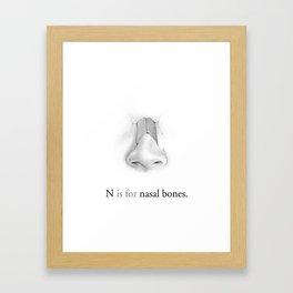 N is for nasal bones Framed Art Print