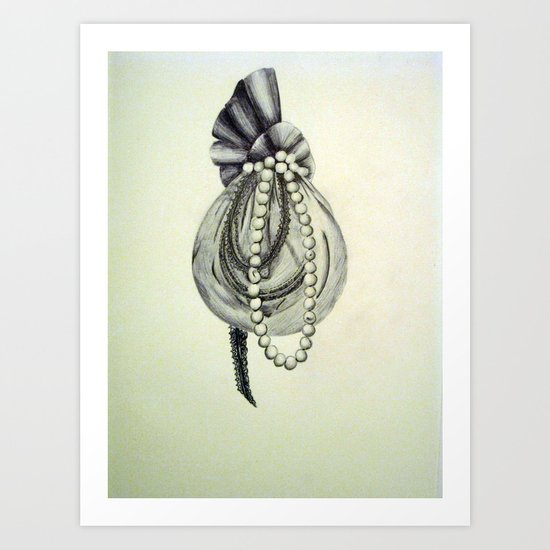 Pearly Lacyness Art Print