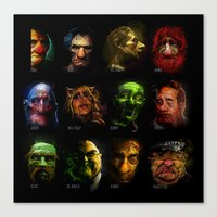 muppets Canvas Prints featuring Muppets Noir (with names) by MJCreations