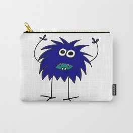 Funny Cute Blue Monster  Carry-All Pouch