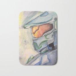 Halo gaming watercolor design Bath Mat