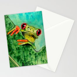Watercolor Tree Frog Stationery Cards