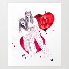 High, Valentine :-) Art Print