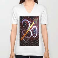 om V-neck T-shirts featuring Om by Priyanka Rastogi
