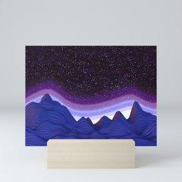 Mountains in Space Mini Art Print