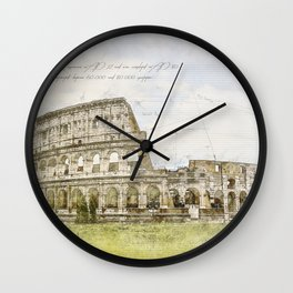 Colosseum, Rome Italy Wall Clock