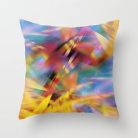 prism Throw Pillows featuring Prism by renajoy