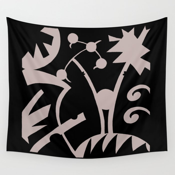 Abstract Jungle Wall Tapestry