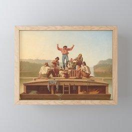 The Jolly Flatboatmen by George Caleb Bingham Framed Mini Art Print