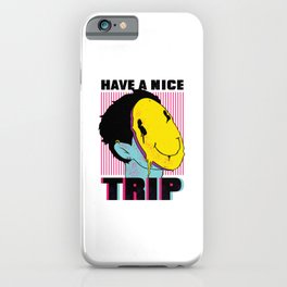 LSD Psychedelic Drug Have a Nice Trip iPhone Case