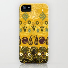 lotus block vintage gold iPhone Case