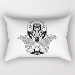 """""""The Hand of Fatima"""",""""Hand of Miriam"""" with Eye of Horus, an ancient strong Symbol for Protection and Rectangular Pillow"""