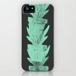 Plants Green and Black iPhone Case