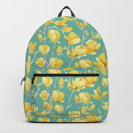 Yellow Magnolia Spring Bloom Backpack