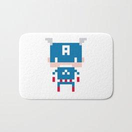 Pixel Captain America Bath Mat