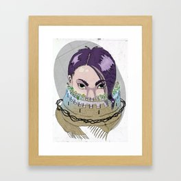 Tough Scarf Framed Art Print