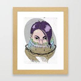 Tough Scarf Framed Art Print