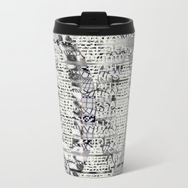 The Eternal Return Of The Unique Event (P/D3 Glitch Collage Studies) Metal Travel Mug