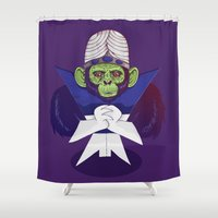 jojo Shower Curtains featuring Mojo Jojo by Mikhail Desales