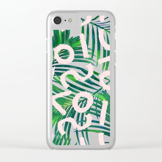 Palm Blabber #society6 #decor #buyart Clear iPhone Case