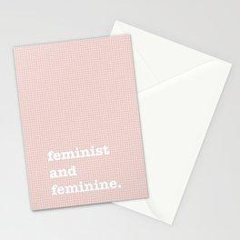 feminist and feminine Stationery Cards