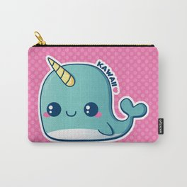 Kawaii Blue Narwhal Carry-All Pouch