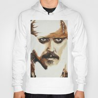 jack sparrow Hoodies featuring Captain Jack Sparrow by David Burdis