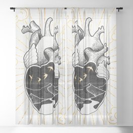 Desert Heart Inktober :: More Magick Sheer Curtain