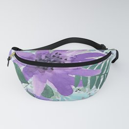 Spring Floral with Purples and Blues Fanny Pack