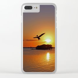 Dancing by Firelight Clear iPhone Case