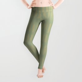 Earthy Green on Sweet Pea Green Parable to 2020 Color of the Year Back to Nature Bold Grunge Dashes Leggings