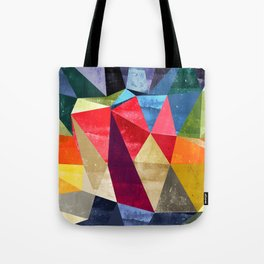 colorful pattern abstract shapes Tote Bag