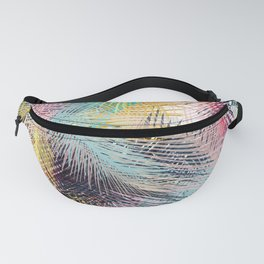 Jungle pampa colorful forest. Tropical fresh forest pattern with palms Fanny Pack