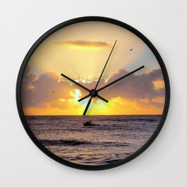 Golden Lining Wall Clock