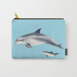 Blue Bottlenose dolphin Carry-All Pouch