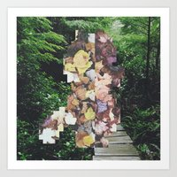 Pixel Leaves 3 Art Print