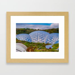 Eden Project Biomes Framed Art Print