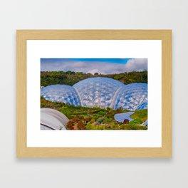 Eden Project Biomes Framed Art Print