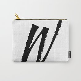 Letter W Ink Monogram Carry-All Pouch