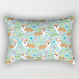 Corgis Easter - cute pastel spring corgi fabric Rectangular Pillow