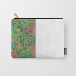 Dotty leaves, fall floral, pastel drawing, life sketch, nature art Carry-All Pouch