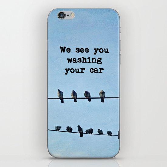 When Pigeons Plan... iPhone & iPod Skin
