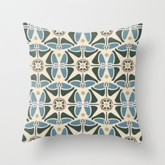 Blue Tulips - Circle Pattern Throw Pillow