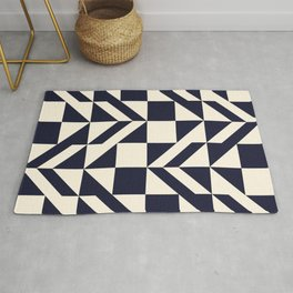 Seamless monochrome geometry pattern. Rug