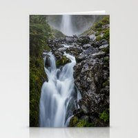 waterfall Stationery Cards featuring Waterfall. by Michelle McConnell