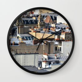 Toits de Paris Wall Clock