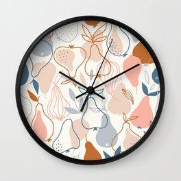 Pears in Scandinavian style Wall Clock